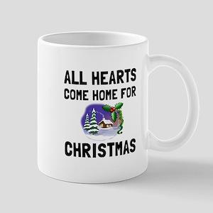Hearts Come Home For Christmas Mugs
