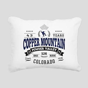 Copper Mtn Vintage Rectangular Canvas Pillow