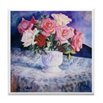 Tile Coaster with Roses