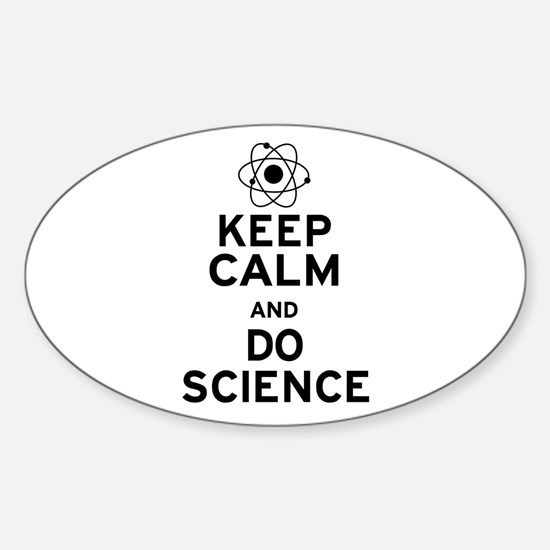 Keep Calm Do Science Sticker (Oval)