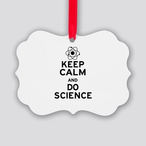Keep Calm Do Science Picture Ornament
