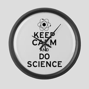 Keep Calm Do Science Large Wall Clock
