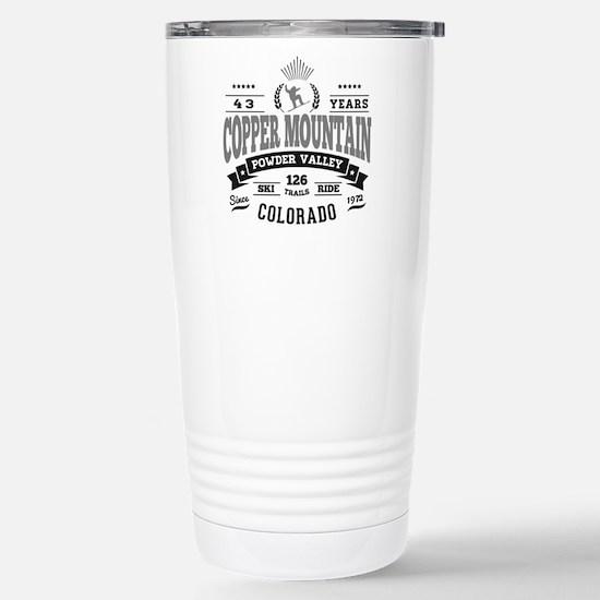 Copper Mtn Vintage Stainless Steel Travel Mug