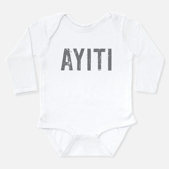 Cute Ayiti Long Sleeve Infant Bodysuit