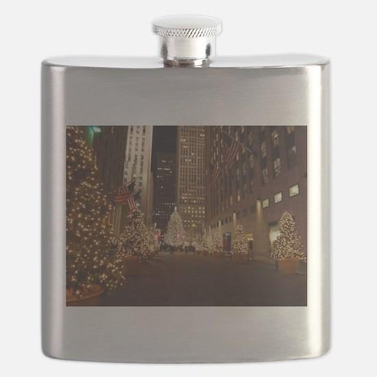Nyc Christmas Flask