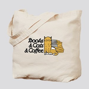 Books & Cats & Coffee Tote Bag