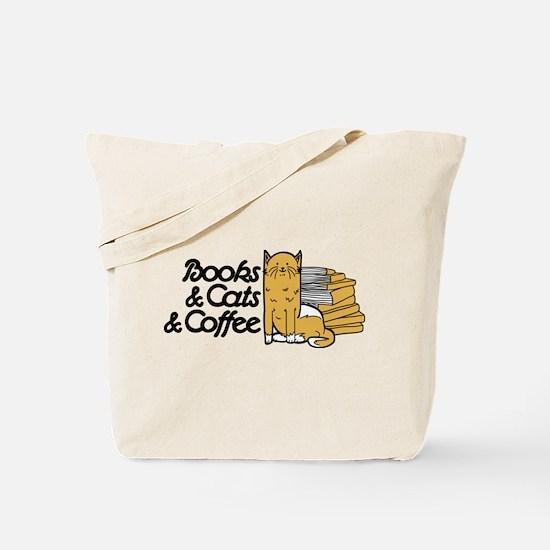 Books & Cats & Coffee Tote Bag