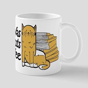 Books & Cats & Coffee Mug
