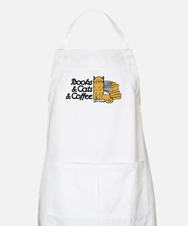 Books & Cats & Coffee Light Apron