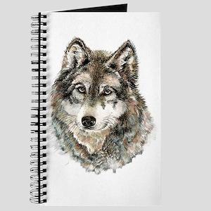Watercolor Grey Gray Wolf Animal Nature Art Journa