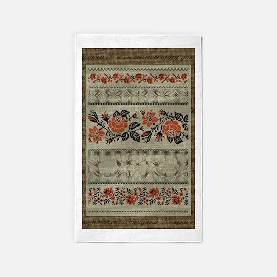 Ukrainian Embroidery Area Rug