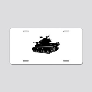 Tank Aluminum License Plate