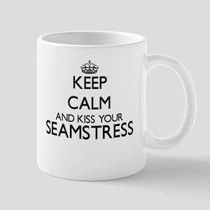 Keep calm and kiss your Seamstress Mugs