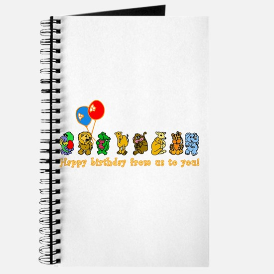 Zoo Animals Happy Birthday Journal