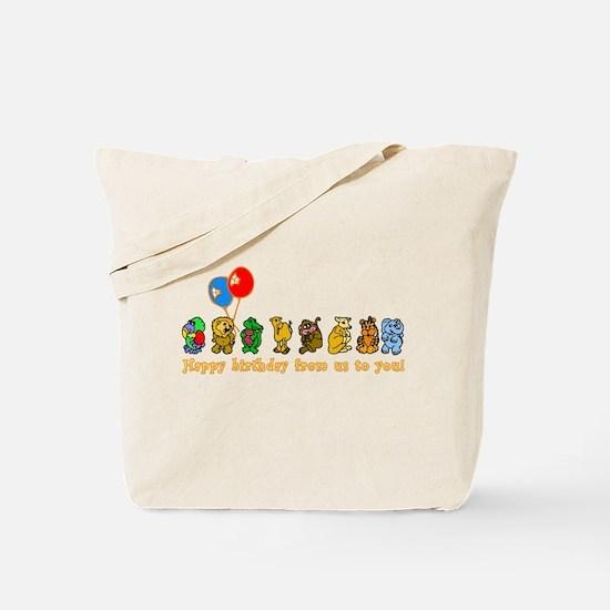 Zoo Animals Happy Birthday Tote Bag