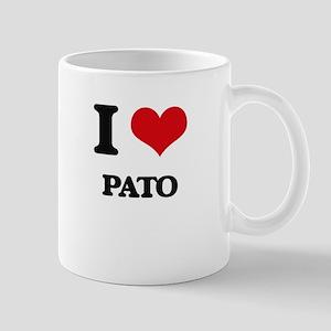 I Love Pato Mugs