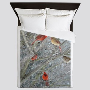 Cardinal Winter Queen Duvet