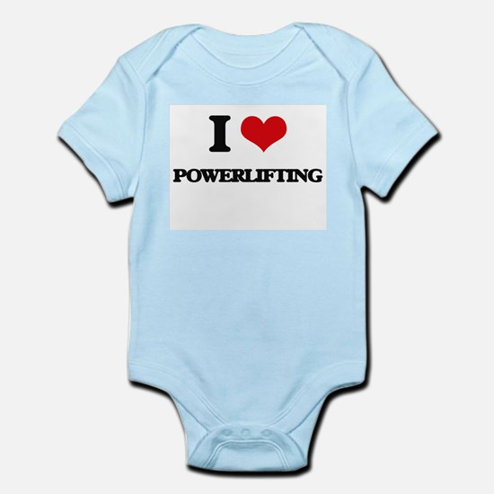 I Love Powerlifting Body Suit