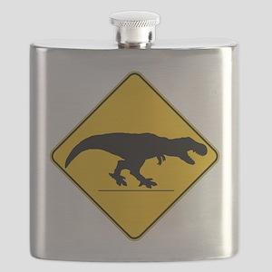 T Rex Crossing Flask