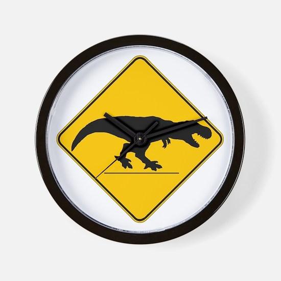 T Rex Crossing Wall Clock