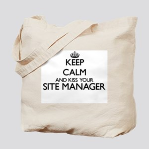 Keep calm and kiss your Site Manager Tote Bag