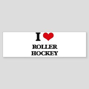 I Love Roller Hockey Bumper Sticker