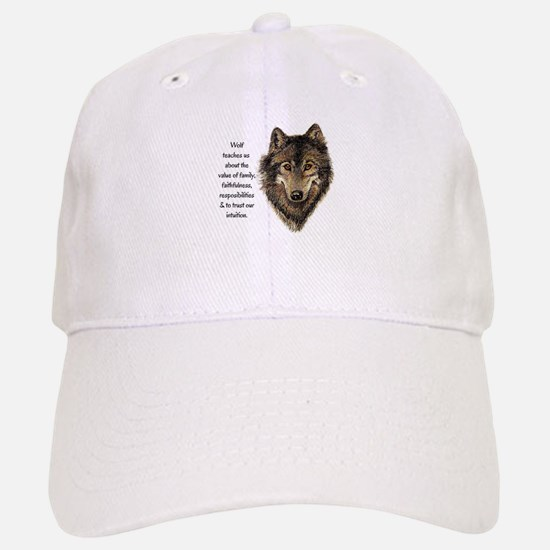 Wolf Totem Animal Guide Watercolor Nature Art Hat