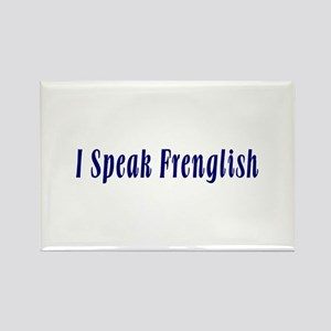 I Speak French and English Rectangle Magnet