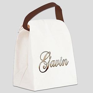 Gold Gavin Canvas Lunch Bag