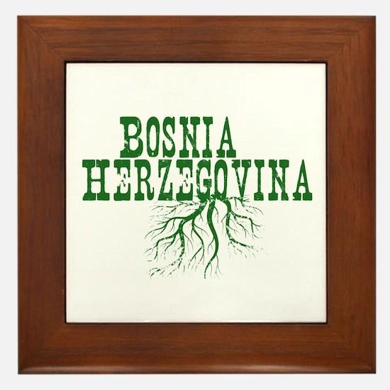 Bosnia Roots Framed Tile
