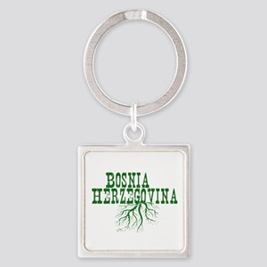Bosnia Roots Square Keychain
