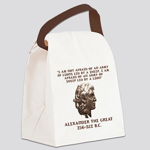 Alexander the Great Canvas Lunch Bag