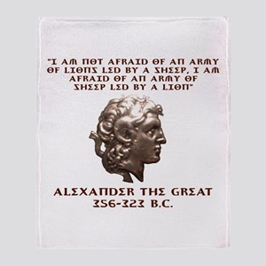 Alexander the Great Throw Blanket
