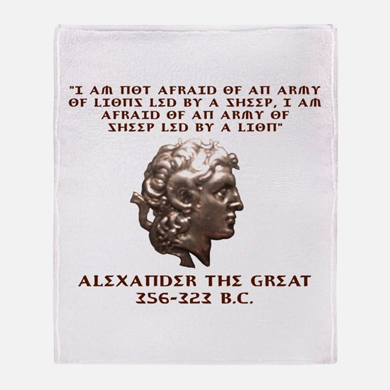 Alexander the Great Throw Blanket