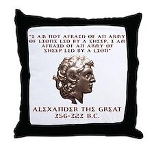 Alexander the Great Throw Pillow