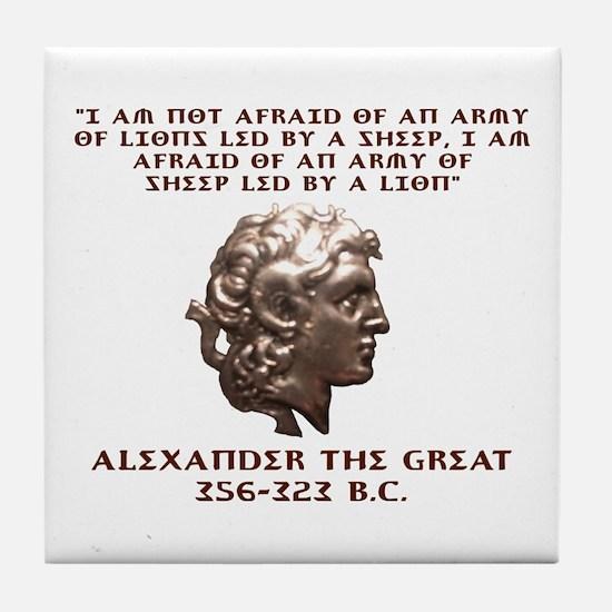 Alexander the Great Tile Coaster