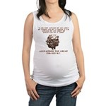 Alexander the Great Maternity Tank Top