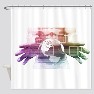 Global Summit and Shower Curtain