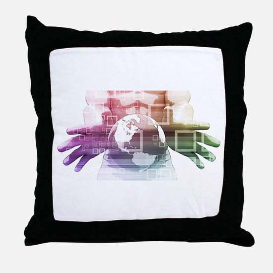 Global Summit and Throw Pillow