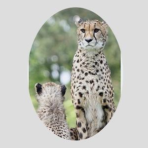 Cheetah002 Ornament (Oval)