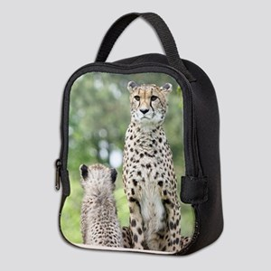 Cheetah002 Neoprene Lunch Bag