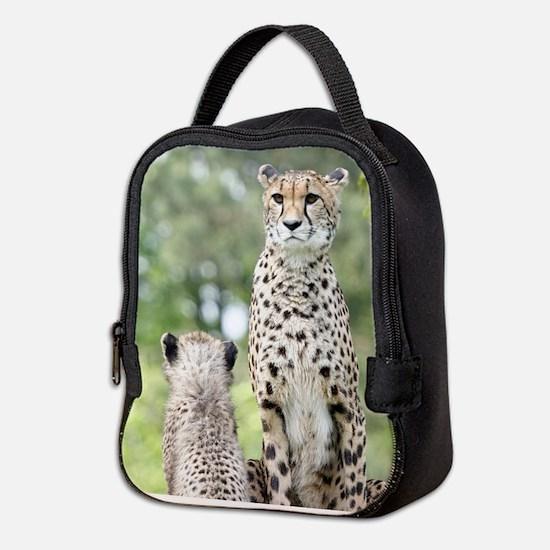 Cheetah002 Neoprene Lunch Bag