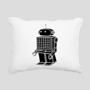 Giant Robot Rectangular Canvas Pillow