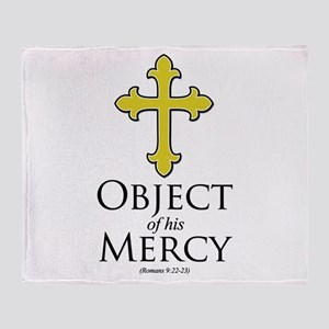 Object of His Mercy Romans 9 Throw Blanket