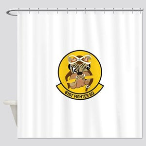 61st_fighter_sq Shower Curtain