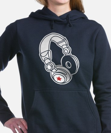Headphones Women's Hooded Sweatshirt