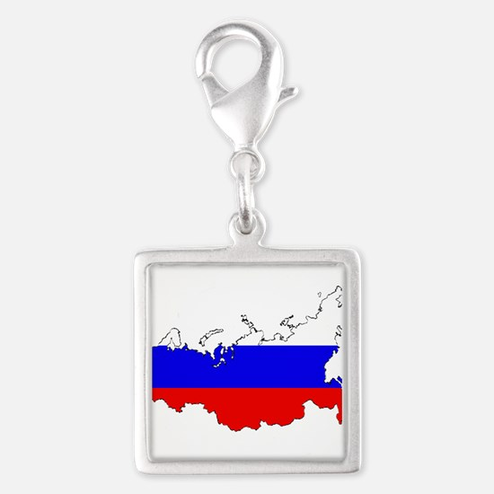 Russian Flag Map Charms