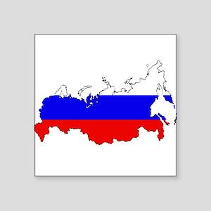Russian Flag Map Sticker