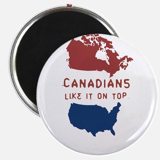 Cute Canada usa flags Magnet