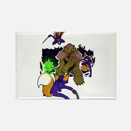 Bearlock Holmes vs. Foxiarty's Ninjas Magnets